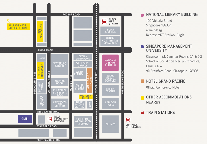 Map of National Library and surroundings