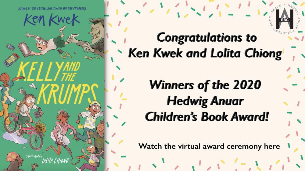 Winners of the 2020 Hedwig Anuar Childrens Book Award!